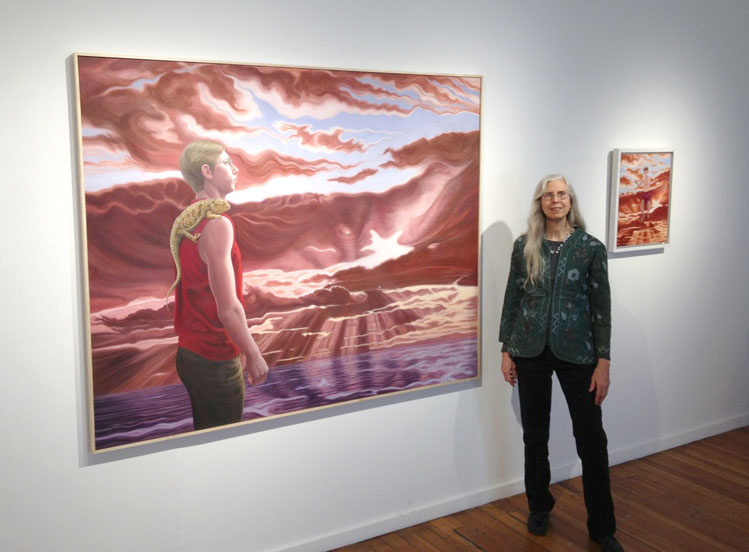 Linda Smith at her 2014 solo show